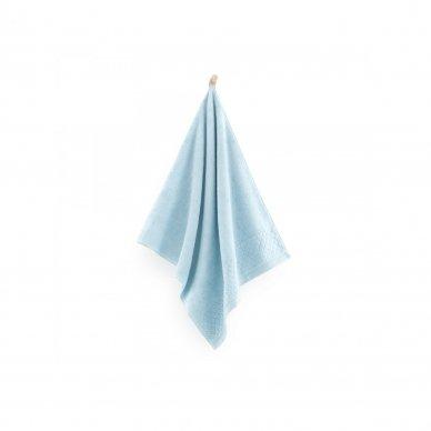 """Veliūrinis Egipto medvilnės rankšluostis """"Karla"""" (žydras) 2"""