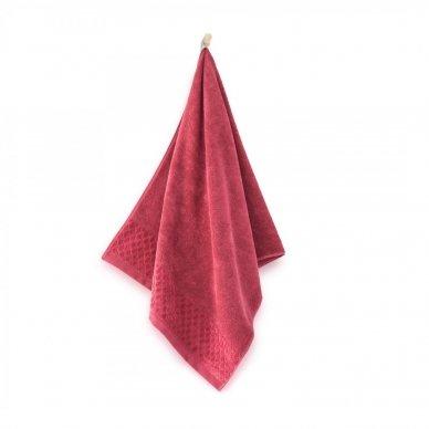 """Veliūrinis Egipto medvilnės rankšluostis """"Karla"""" (raudonas) 2"""