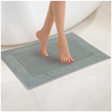 Veliūrinis Egipto medvilnės vonios kilimėlis (šviesiai pilkas)