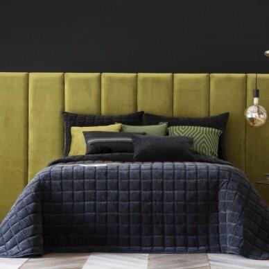 """Velveto lovos užtiesalas """"Marinel Negro"""", 250x270 cm (juoda)"""