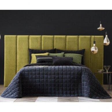 """Velveto lovos užtiesalas """"Marinel Negro"""", 250x270 cm (juoda) 2"""