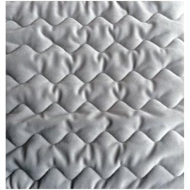 "Velveto lovos užtiesalas ""Naroa Gris"", 250x270 cm (pilka) 2"