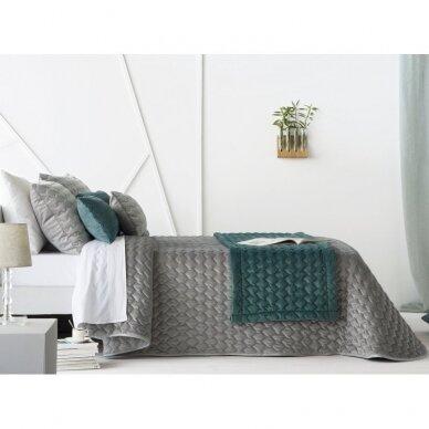 """Velveto lovos užtiesalas """"Naroa Gris"""", 250x270 cm (pilka) (2 užvalkaliukai) 3"""