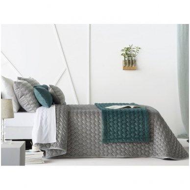 "Velveto lovos užtiesalas ""Naroa Gris"", 250x270 cm (pilka) 3"