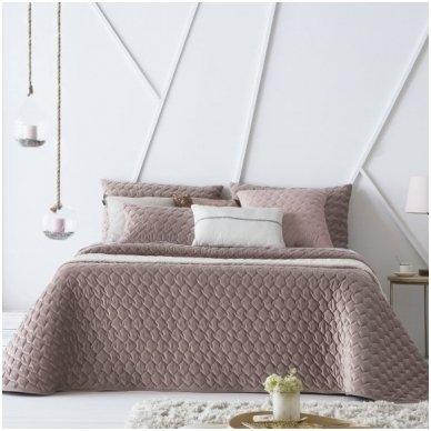 """Velveto lovos užtiesalas """"Naroa Malva"""", 250x270 cm (avietinė)"""