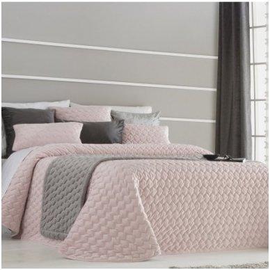 """Velveto lovos užtiesalas """"Naroa Rose"""", 250x270 cm (rožinė)"""