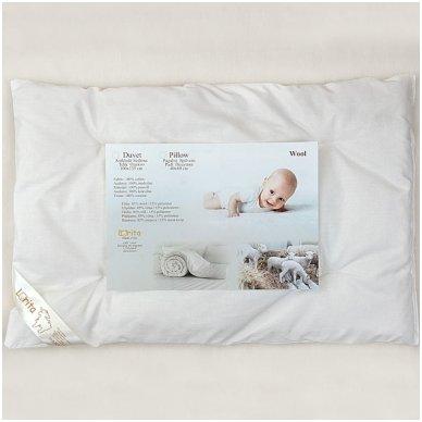 Vilnonė pagalvė kūdikiui, 40x60 cm