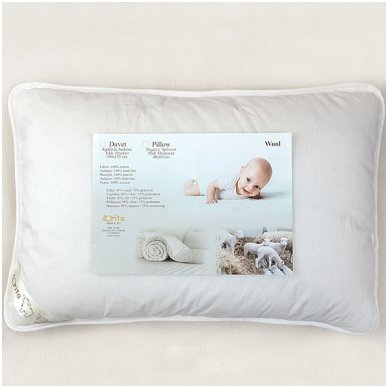 Vilnonė pagalvė vaikui SUPERWASH, 40x60 cm