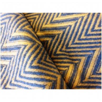"Merino vilnos pledas ""Zigzag Yellow"", 140x200 cm 3"