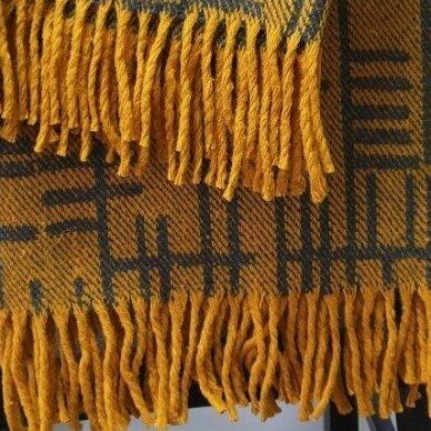 "Vilnonis pledas ""Merino Yellow"", 130x190 cm 3"