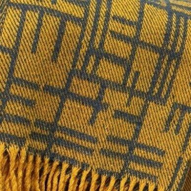 "Vilnonis pledas ""Merino Yellow"", 130x190 cm 2"