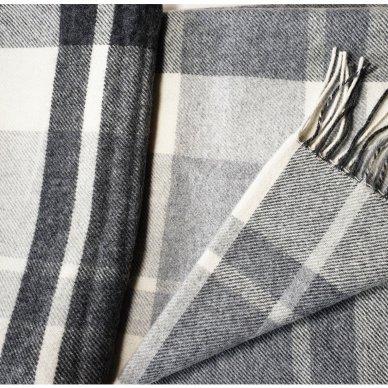 "Vilnonis pledas su kašmyru ""Kuba Light Grey"", 140x200 cm 3"