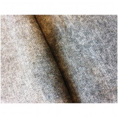 """Vilnonis pledas su kašmyru """"Kuba Grey"""", 140x200 cm (dvipusis) 3"""