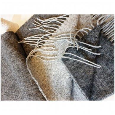 """Vilnonis pledas su kašmyru """"Kuba Grey"""", 140x200 cm (dvipusis) 4"""