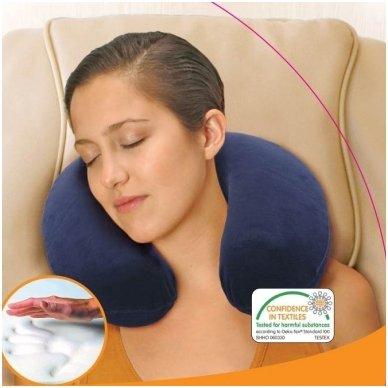 Viskoelastinės medžiagos kelioninė kaklo pagalvė 2