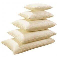 Žąsų pūkų ir plunksnų pagalvė su tiku (70%-pūkų, 30%-plunksnų) LUX ULTRA , 70x70 cm