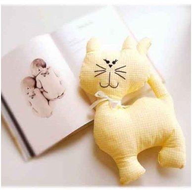 """Žaislas - """"Kačiukas"""" (geltonas)"""