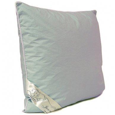 Žąsų plunksnų ir pūkų pagalvė (15%-pūkų, 85%-plunksnų), 60x60 cm 2