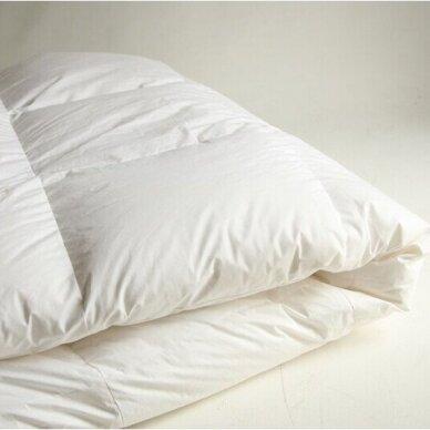 Žąsų pūkų (70%-pūkų, 30%-plunksnų) antklodė su tiku EXCLUSIVE ULTRA , 140x200 cm 2