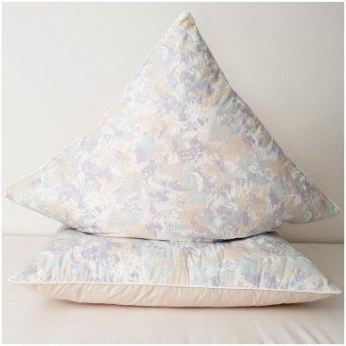 Žąsų pūkų ir plunksnų pagalvė (90%-pūkų, 10%-plunksnų), 50x70 cm 2