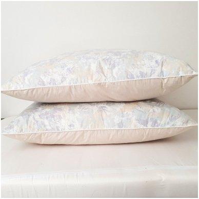 Žąsų pūkų ir plunksnų pagalvė (90%-pūkų, 10%-plunksnų), 68x68 cm 5
