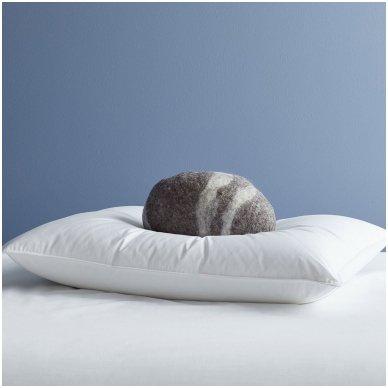 Žąsų pūkų ir plunksnų pagalvė (90%-pūkų, 10%-plunksnų) EXCLUSIVE, 50x70 cm 2