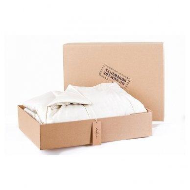 Žieminė rankų darbo su vilnos užpildu antklodė (600 g/m²), 140x200 cm 5