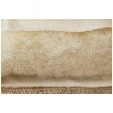 Žieminė rankų darbo su vilnos užpildu antklodė (600 g/m²), 140x200 cm 4