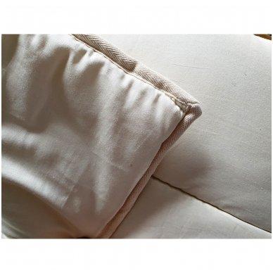 Žieminė rankų darbo su vilnos užpildu antklodė (600 g/m²), 200x200 cm 6