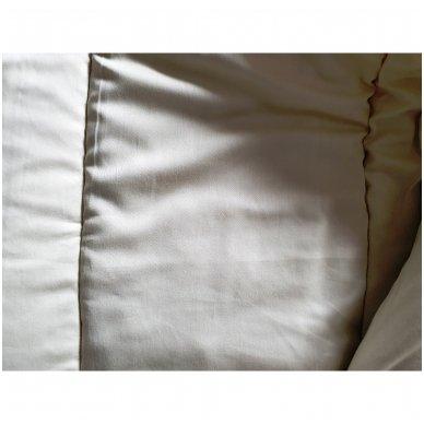 Žieminė rankų darbo su vilnos užpildu antklodė (600 g/m²), 200x200 cm 7