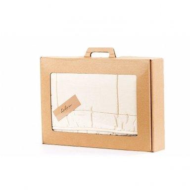 Žieminė rankų darbo su vilnos užpildu antklodėlė, 100x130 cm 5